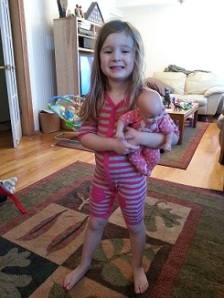 "Channeling Punky Brewster . . . apparently she still ""fits"" in her 6-12 month clothes"