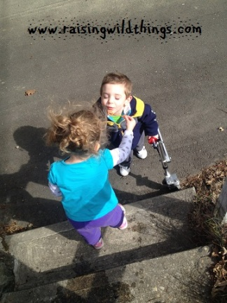 One reader's 3 yo helping her little brother blow bubbles