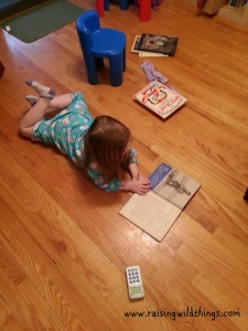 Girl after my own heart -- loves to read!