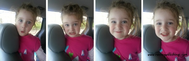This girl with her goofy faces and crazy hair!