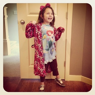 Sophia, 5, from WA: Who wouldn't be excited for PJ day at preschool?! (To see more fun outfits, check out Sophia's mommy's FB page, Does This Match? https://www.facebook.com/DoesThisMatch?fref=ts)