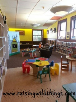 Had the kids' room at the library all to ourselves