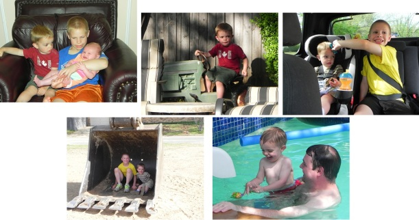 Amanda from AL: Our son Arlie, who turned 2 in Feb, just loved visiting with his family in Texas last month. He didn't want to get out of Papa's pool. He followed his 8 year old cousin around and got to meet his new baby cousin. We took him to the Forth Worth Zoo and several parks in the area. It was a great family trip!