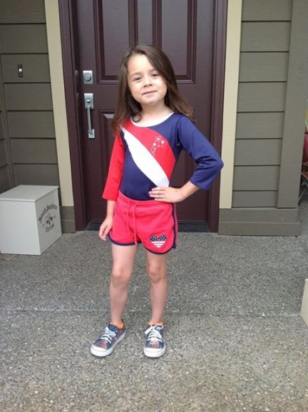 S from Does This Match? in her spirited red, white, and blue 4th of July outfit! Don't you just love her?