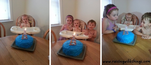 Getting ready for birthday cake!
