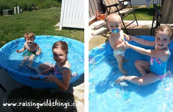 A little kiddie pool time at home