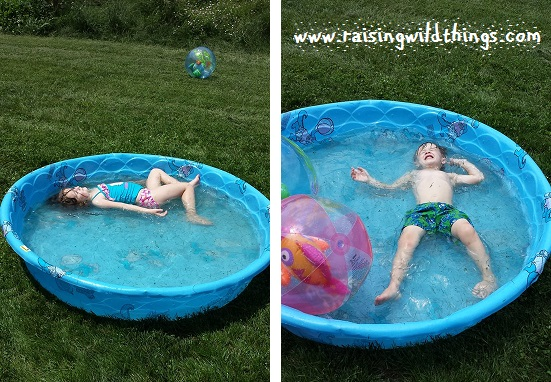 They didn't even care the pool was full of grass at this point!