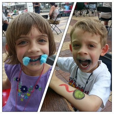 From Ms. Snippy Bloomers: Cotton candy at a fest is fun!