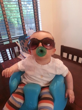 "Stephanie from TX: My sweet 7 month old baby boy!! Ace Avery Harrison. This pic reminds me of ""Carlos"" in The Hangover."