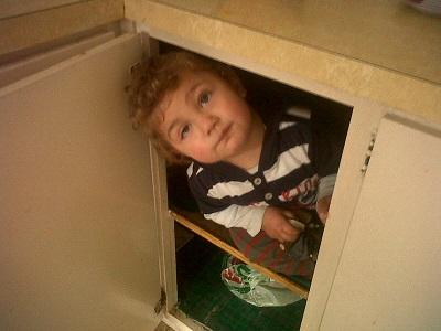 connor in cupboard
