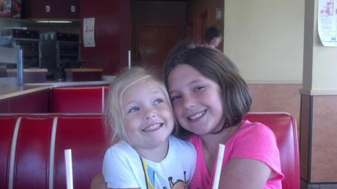 Daisy from TX: Daughters Summer and Wynter reunited after 8 days . . . so happy!
