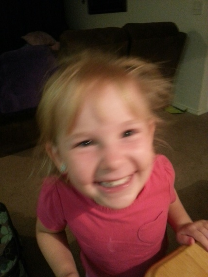 Amanda from X: It's blurry, but this is one of my all time favorite pictures of my daughter, Lilly. Taken just last week.