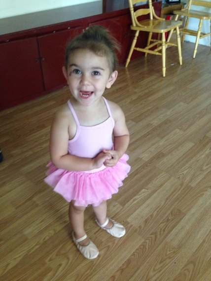 Erin from MO: First day of ballet.
