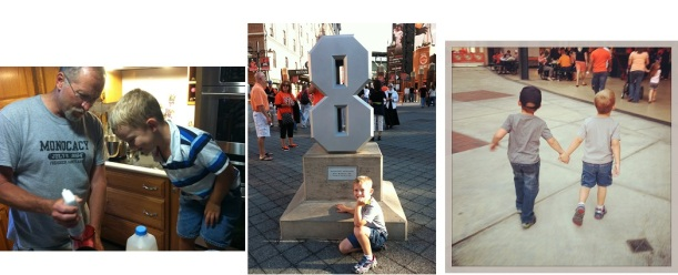 Melissa from MD: Making milkshakes; first trip to Camden Yards; fast friends -- a visit with a friend from FL.