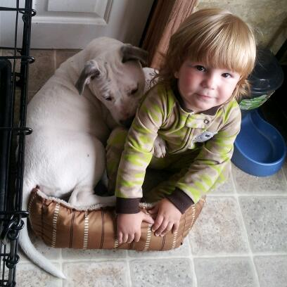 Tina Marie from CO: Skye is protecting Blake from being forced to get his diaper changed!