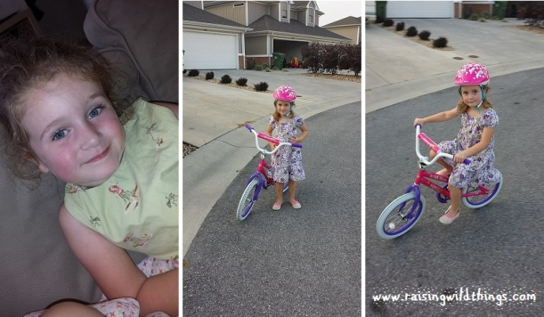 My sweet Bean chilling and showing off her new bike.