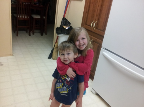 Tiffany from AR: Khylee and Kade showing their love for each other!