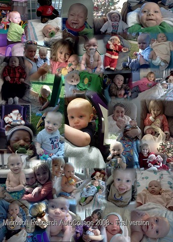A collage for my son's birthday of his first year. He will be 1 on Nov.  2nd.