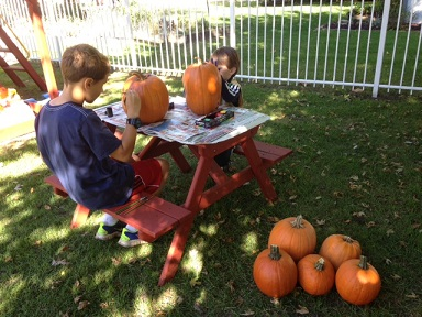 Kathy from IL: Fall fun with cousins.